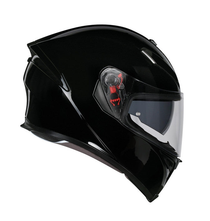 AGV K5-S DVS Sports/Touring Full Face Motorcycle Helmet Lid - Gloss Black - AGV -  - MSG BIKE GEAR - 1