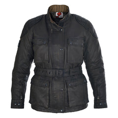 Oxford Heritage LADIES Wax Cotton Motorbike Motorcycle Jacket Black - Oxford -  - MSG BIKE GEAR - 1