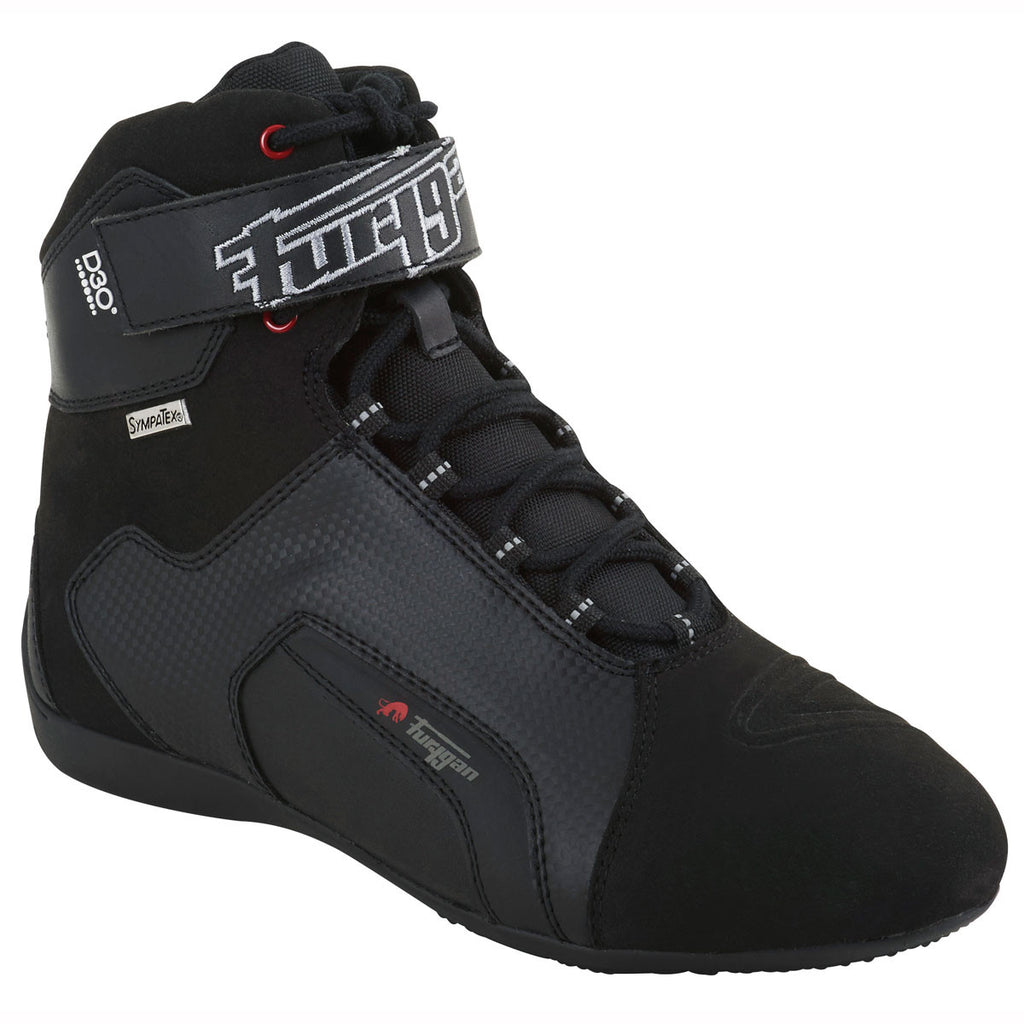 Furygan Jet D30 Sympatex Waterproof Short Scooter Motorcycle Boots - Black - Furygan -  - MSG BIKE GEAR - 1