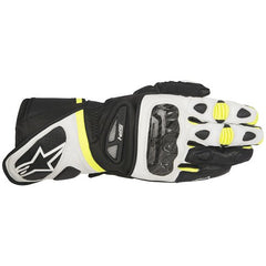 AlpineStars  SP-1 Leather Motorcycle Motorbike Gloves - White Fluo Yellow - Alpinestars -  - MSG BIKE GEAR - 1