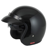 Vcan V537 Open Face Helmet - Gloss Black