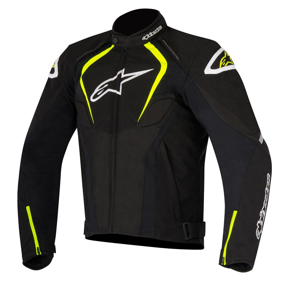 Alpinestars T-Jaws Waterproof Motorbike Motorcycle Textile Jacket Black/Fluo - Alpinestars -  - MSG BIKE GEAR - 1