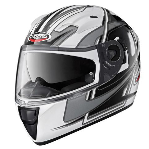 CABERG VOX SPEED WHITE/BLACK FULL FACE MOTORCYCLE HELMET - Caberg -  - MSG BIKE GEAR