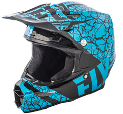 Fly 2018 F2 Carbon Fracture MX Helmet - Lite Blue / Black