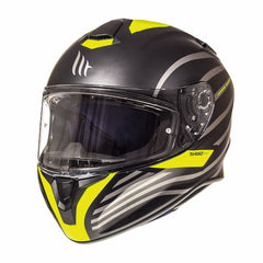 MT Targo Doppler Full Face Helmets - Matt Black/Fluo Yellow