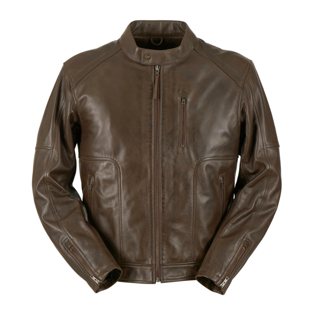 Furygan Bronson CE Leather Jacket - Brown