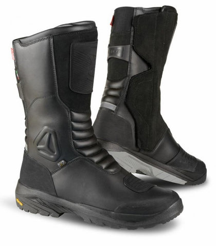 Falco Tourance Leather Waterproof Motorbike Touring Motorcycle Boots - Black - Falco -  - MSG BIKE GEAR - 1