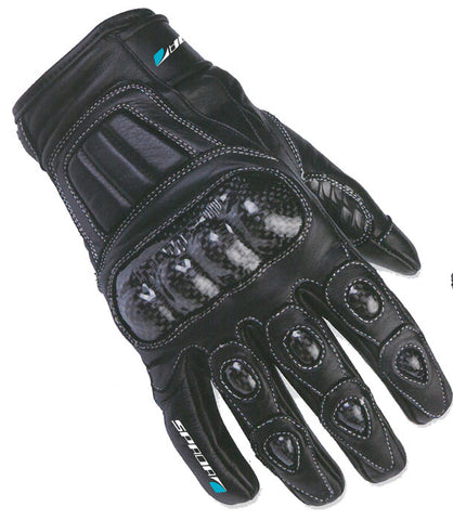 SPADA CLUB WP WATERPROOF MOTORCYCLE MOTORBIKE LEATHER GLOVES BLACK - Spada -  - MSG BIKE GEAR