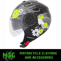 CABERG RIVIERA V2+ DIVA BLACK/WHITE OPEN FACE MOTORCYCLE HELMET - Caberg -  - MSG BIKE GEAR