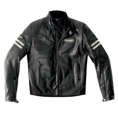 Spidi Ace Classic Leather Jacket - Ice Black
