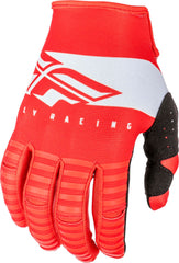 Fly Racing 2019 Youth Kinetic Shield Motocross Gloves - Red / White