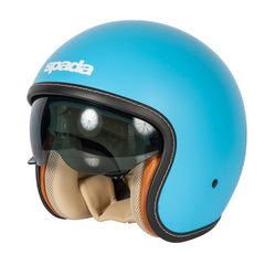 Spada Raze Motorcycle Motorbike Open Face Quick Release Helmet - Matt Blue - Spada -  - MSG BIKE GEAR - 1
