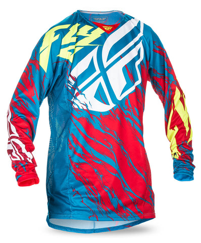 Fly 2017 Kinetic Relapse MX Motocross Adult Jersey Teal/Red/Hi-Viz - Fly Racing -  - MSG BIKE GEAR - 1
