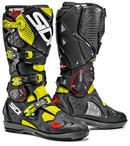 Sidi Crossfire 2 SRS Enduro Motocross Off Road Boots - Yellow Fluo/Black - Sidi -  - MSG BIKE GEAR - 1