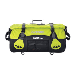 Oxford AQUA T30 Waterproof Motorcycle Roll Bag - 30 Litres - BLACK/FLUO - Oxford -  - MSG BIKE GEAR