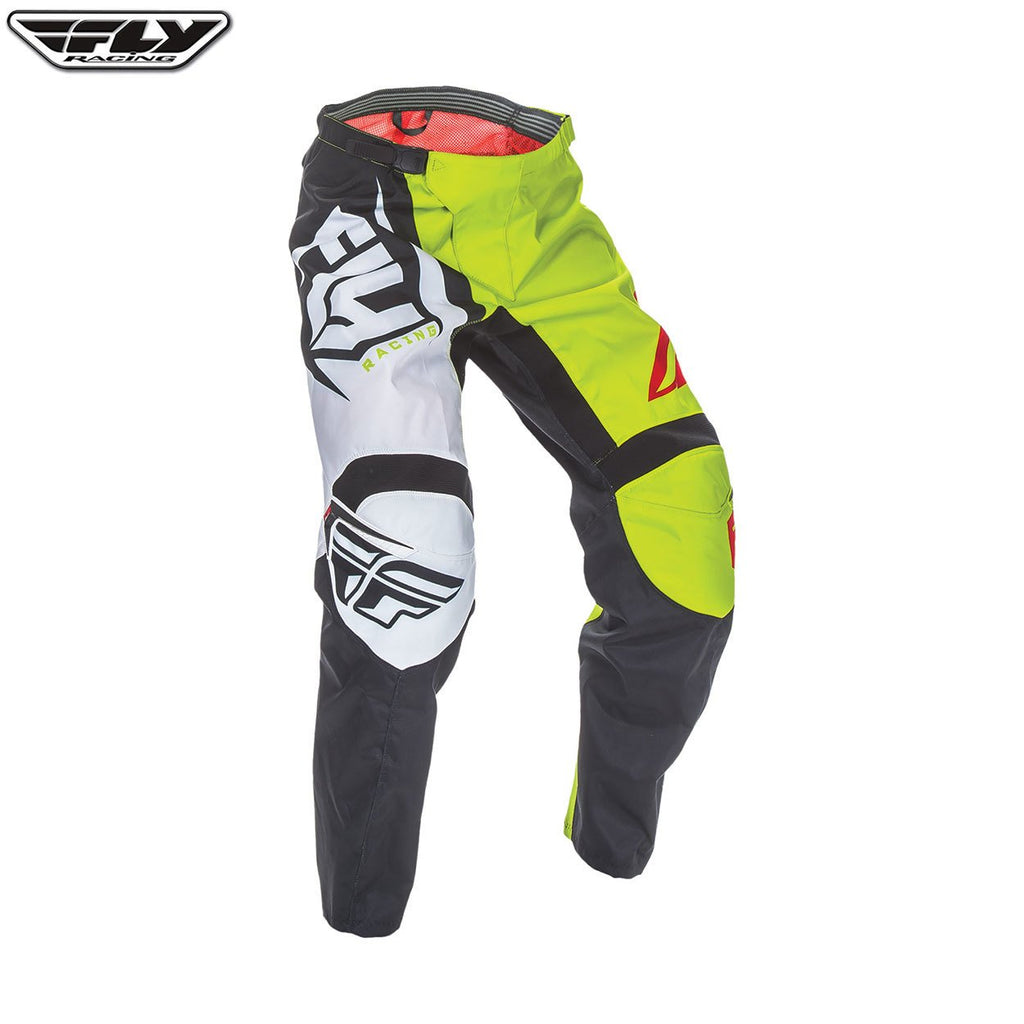 Fly Racing F-16 Youth Motocross Pants (2017) - Black / Lime