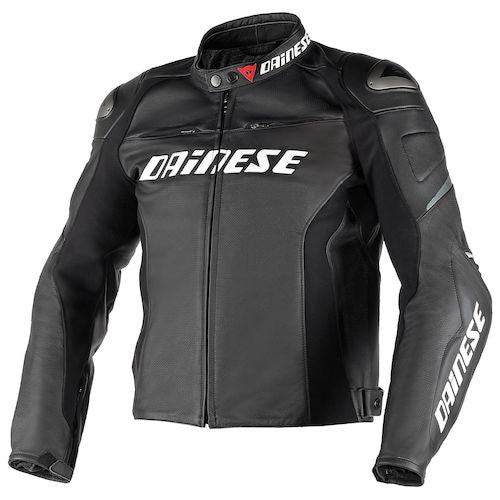 Dainese Racing D1 Leather Sports Race Motorbike Motorcycle Jacket - Black - Dainese -  - MSG BIKE GEAR - 1