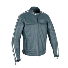 Oxford Bladon Leather Cafe Racer Jacket - Racing Green