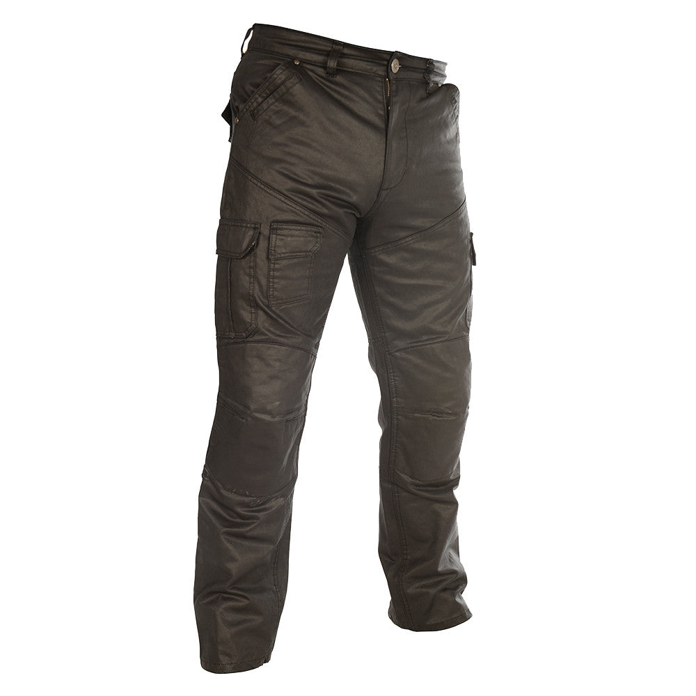 Oxford ARAMID SP-J6 Wax Cargo Motorcycle Jeans Pants Trousers - Black - Oxford -  - MSG BIKE GEAR