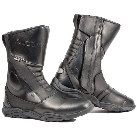 Richa Zenith Waterproof Leather Touring Motorcycle Boots Black - Richa -  - MSG BIKE GEAR