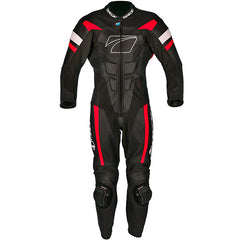 Spada Curve Evo 1 Piece Leather Motorcycle Race Suit - Black/Fire Red - Spada -  - MSG BIKE GEAR
