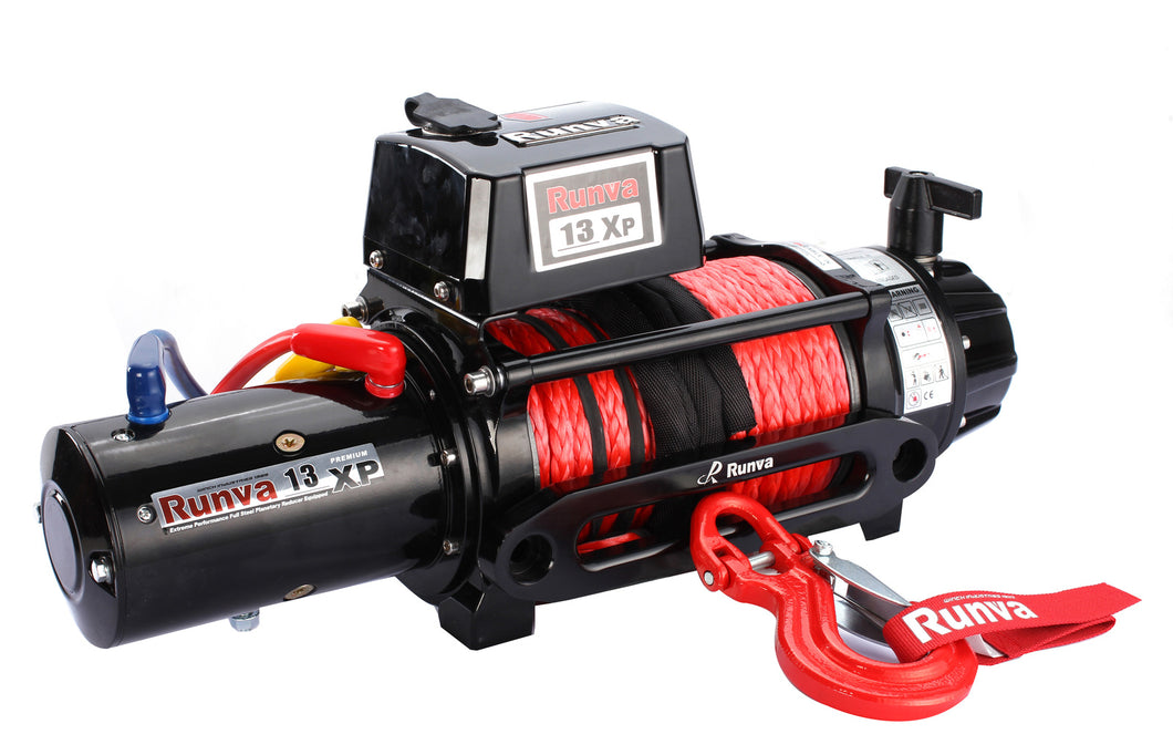 Winch - Runva 13XP PREMIUM 12V with Synthetic Rope - full IP67 protection