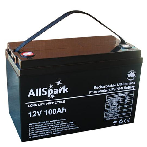 LITHIUM IRON PHOSPHATE BATTERY 100ah (LIFEPO4) (175-320A)