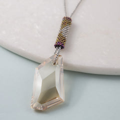 handmade swarovski crystal pendant necklace