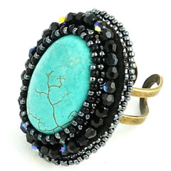 Faith Ring: Blue Turquoise - Ring - Senhoa UK - 2