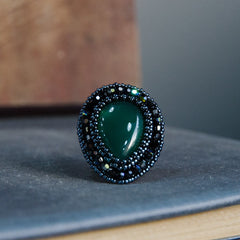 Faith Ring: Green Agate - Ring - Senhoa UK - 1