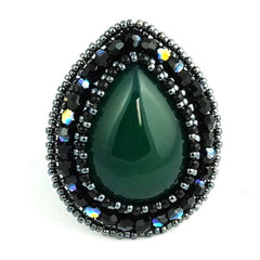 Faith Ring: Green Agate - Ring - Senhoa UK - 2
