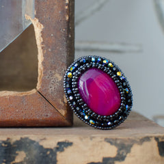 Faith Ring: Pink Agate - Ring - Senhoa UK - 1