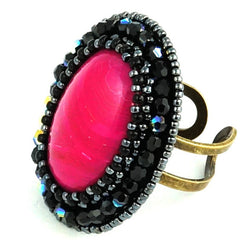 Faith Ring: Pink Agate - Ring - Senhoa UK - 2