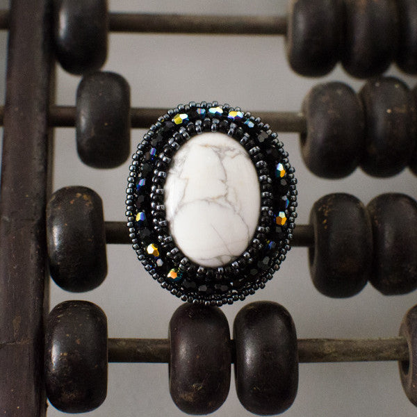 Faith Gemstone Ring: White Turquoise