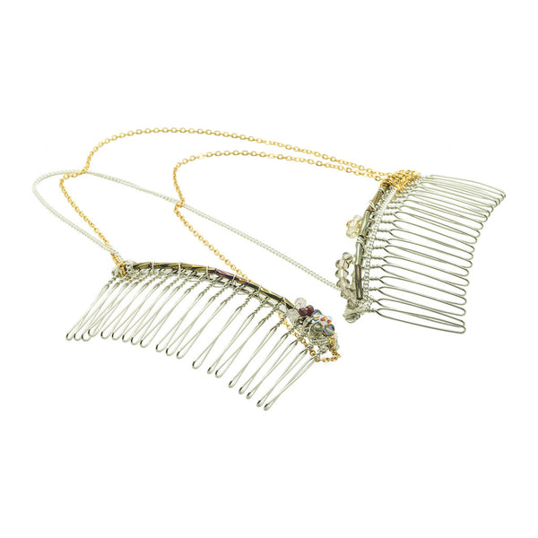 Enchanting Chained Hair Comb - Hair Jewellery - Senhoa UK - 1