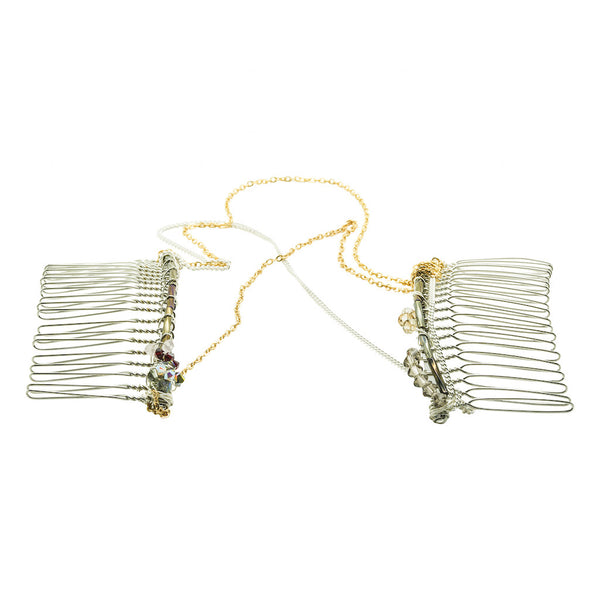 Enchanting Chained Hair Comb - Hair Jewellery - Senhoa UK - 2