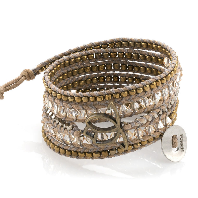 Luxe Wrap Bracelet: Golden Shadow