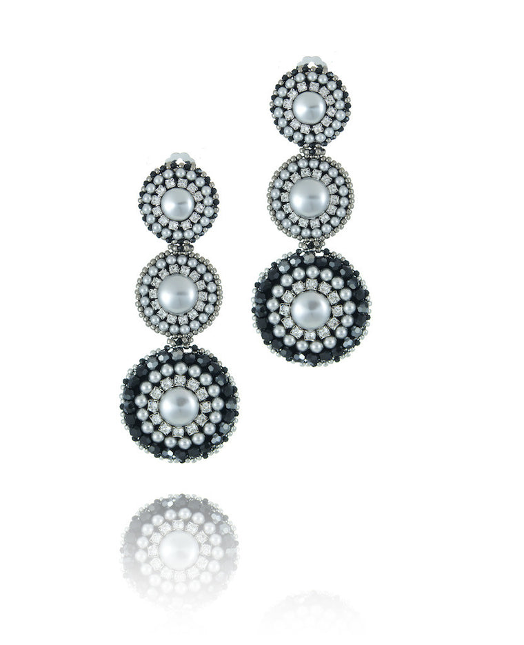 Melanie Triple Pearl Earrings