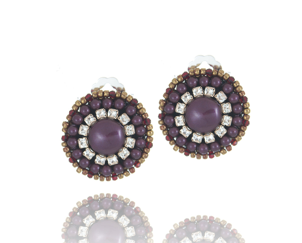 close up earrings black preville single pearl penny products