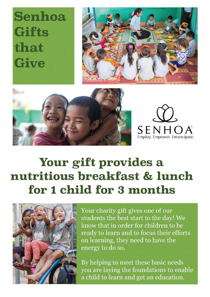 Senhoa Gifts that Give: Nutritious breakfast and lunch for 1 child for 3 months