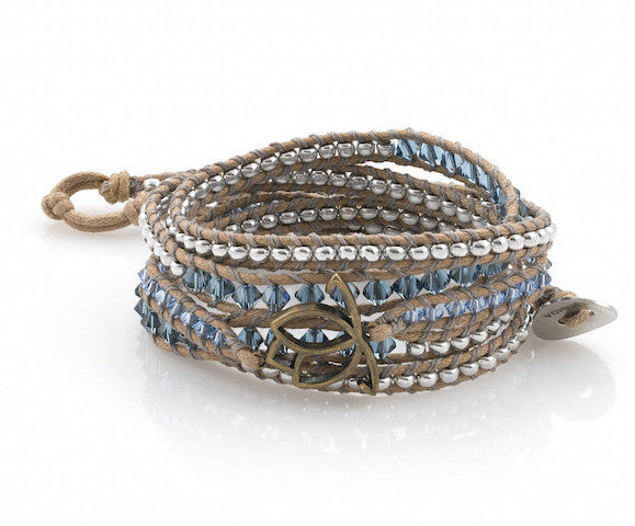 Luxe Wrap Bracelet: Denim