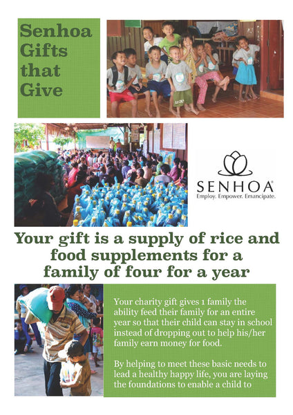 Senhoa Gifts that Give: Rice & food supplements for a family of four for a year