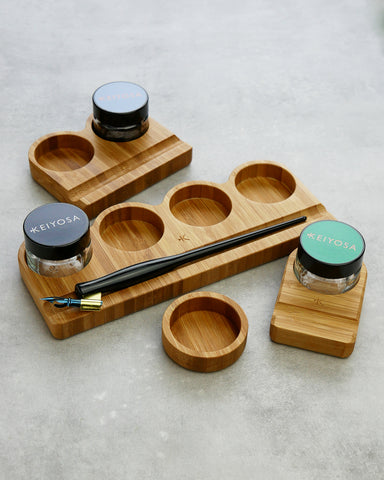 Calligraphy ink pot holder - Bamboo