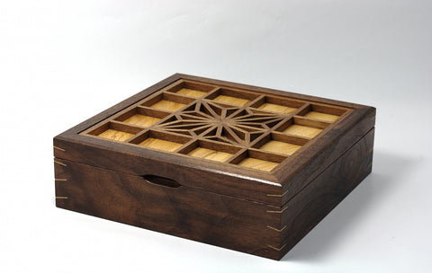 'Asa No Ha' Walnut Jewellery box - SOLD