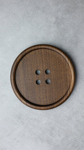 Wooden Button Drink Coasters - Individual