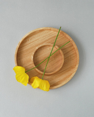 Wooden Oak Round Tray