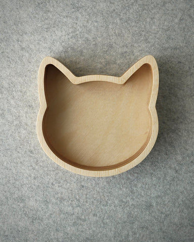 Cat and dog desk tidy birch-ply clearance