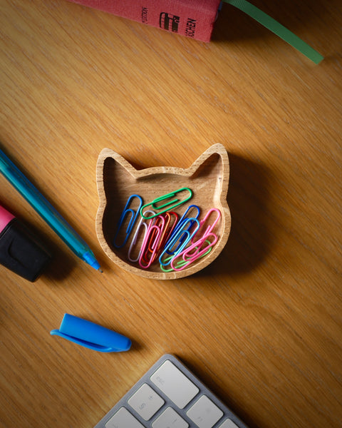 Cat desk tidy