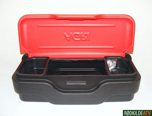 110.0020 - Box - Tool Box Front - Agri - Red / Black (memo dimention) - Rødkilde ATV
