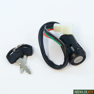 159.0010 - Ignition Switch - Universal 4 -Wire - Rødkilde ATV